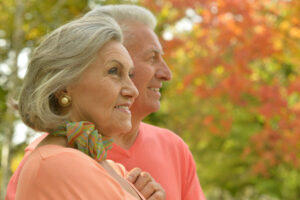 Elderly couple depicts October long-term care planning month